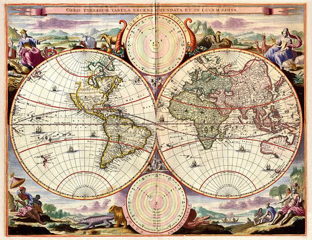 Wereldkaart 1680 Stoopendaal